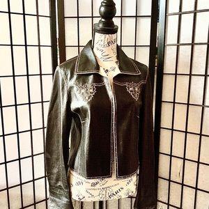 Escada Lambskin Leather Jacket 36 4
